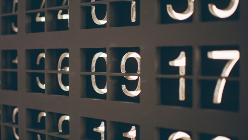 close up of numbers