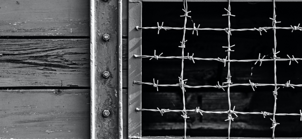 barbed wire window