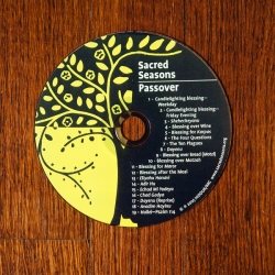 picture of sacred seasons cd, yellow and black colors