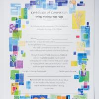 artistic certificate for conversion for baby boy