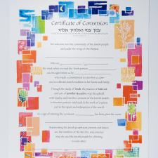 colorful and artistic conversion certificate for baby girl
