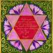 star of David with english text of Exodus 23:9