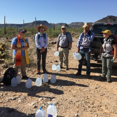 faith leaders gathered in the Arizona desert to bring water to migrants