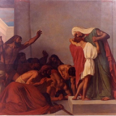 Joseph Recognized by His Brothers (1863 painting by Léon Pierre Urbain Bourgeois)