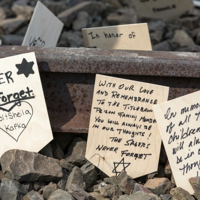 "messages on train tracks, ""never forget"" and other prayers"