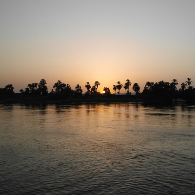 Nile River at sunset