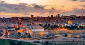 jerusalem skyline sunset