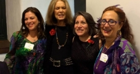 Gloria Steinem with Rabbi Geela Rayzel Raphael and members of MIRAJ