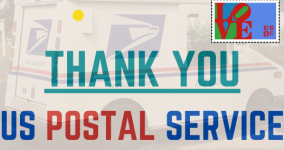 partial screen shot of thank you poster to US postal workers