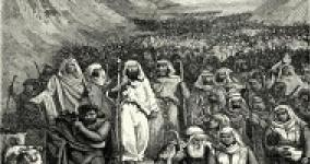pencil drawing of the exodus from Egypt