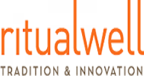 ritualwell in orange letters; tradition & innovation under in black letters